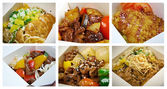 Set ofchinese cuisine in take-out box — Stock Photo