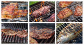 Collage prepared on the barbecue grill — Stock Photo