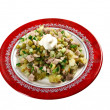Russian traditional salad olivier — Stock Photo #39293705