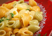 Colorful Italian conchiglie pasta — Stock Photo