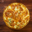 Quiche with halibut — Stock Photo #40198625