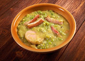 Erwtensoep pea soup - — Stock Photo