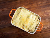 Cannelloni with beef — Stock Photo