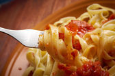 Sicilian homemade pasta Fettuccine — Stock Photo