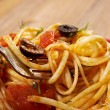 Stock Photo: Spaghetti allputtanesca