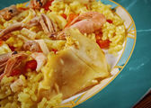 Spanish Paella de Marisco — Stock Photo