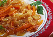 Escabeche or fried fish — Stock Photo