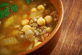 Moroccan traditional soup - harira — Stock Photo