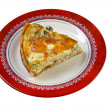Quiche with halibut — Stock Photo #41293059