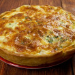 Quiche with halibut — Stock Photo #41293065