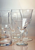 Clean empty glassware collection — Stock Photo
