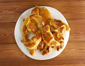 Cheese crescents — Stock Photo