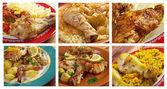 Gıda farklı et ayarlayın. kolaj — Stok fotoğraf
