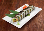 Greater sushi with vegetables — Stock Photo