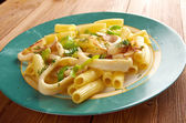 Seafood with Rigatoni Pasta — Stock Photo
