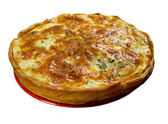 Quiche with halibut — Stock Photo