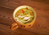 Tokmach-Chicken soup — Stock Photo