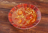 "Fasolada.national food of the Greeks"" — Stock Photo"