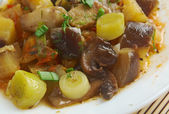 Eggplant stewed with mushroom  — Stock Photo