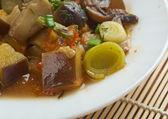 Eggplant stewed with mushroom  — Stock Photo