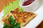 Grilled cheeset with  sesame — Stock Photo