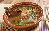 French soup with lentils and Dijon mustard — Stock fotografie