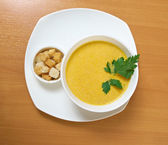 Homemade split pea soup — Stock Photo