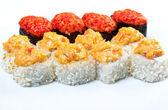 Koření sushi s macerovaná plátky — Stock fotografie