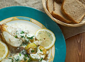 Halibut in Lemon Cream — Stock Photo