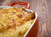 Pastitsio -  a Greek and Mediterranean baked pasta  — Stock Photo