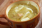 Tatar chicken noodle soup  — Stock Photo