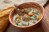 French soup with lentils and Dijon mustard — Stock Photo