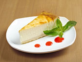 Fresh cheesecake — Stock Photo