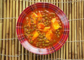 Mattar paneer — Stock Photo