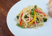 Chinese asian noodles  — Stock Photo