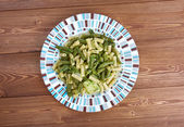 Pesto con patate fagiolini — Stock Photo