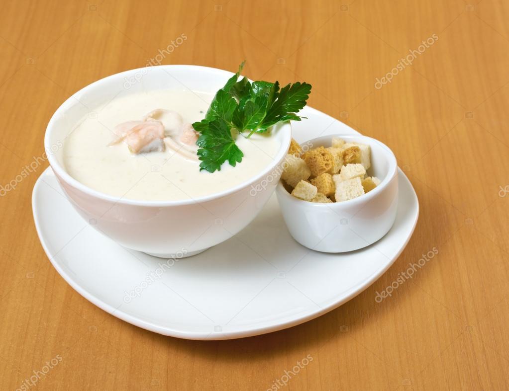 Крем суп с лососем с фото