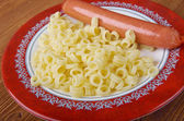 Ditalini with sausage — Stock Photo
