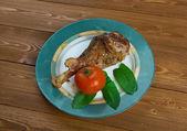 Honey garlic glazed  Turkey leg  baked — Stock Photo