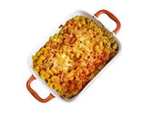 Pasta Elbow macaroni  bake with pancetta — Foto Stock