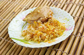 Curry rice with chicken — Stock Photo