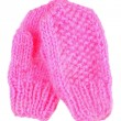 Pink mittens — Stock Photo