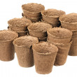 peat pots — Stock Photo