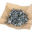 White screws — Stock Photo