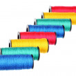 Stock Photo: Eight spools