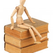 Dummy and old books — Stock Photo