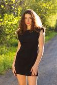 Porträtt av en söt ung kvinna — Stockfoto