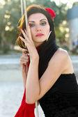 çok güzel genç bir kadın portresi — Stok fotoğraf