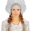 Beautiful Snow Maiden — Stock Photo