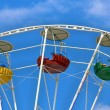 Three cabins Ferris wheel — Stock Photo